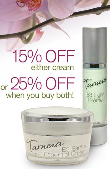 Give Mom A Gift She Will Love - E3 Natural Skin Creams - On Sale for May!