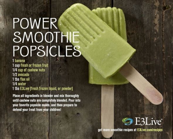 power smoothie popsicle recipe